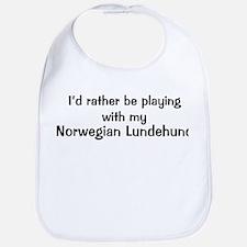 Be with my Norwegian Lundehun Bib