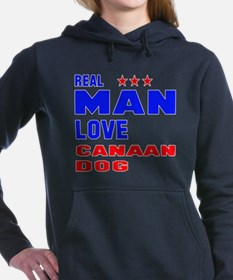 Real Man Love Canaan Dog Women's Hooded Sweatshirt