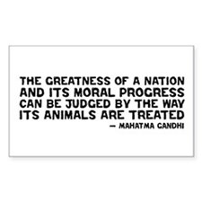 Gandhi - Greatness of a Nation Rectangle Decal