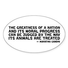 Gandhi - Greatness of a Nation Oval Decal