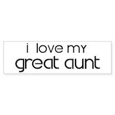 I Love My Great Aunt Bumper Bumper Sticker
