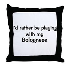 Be with my Bolognese Throw Pillow