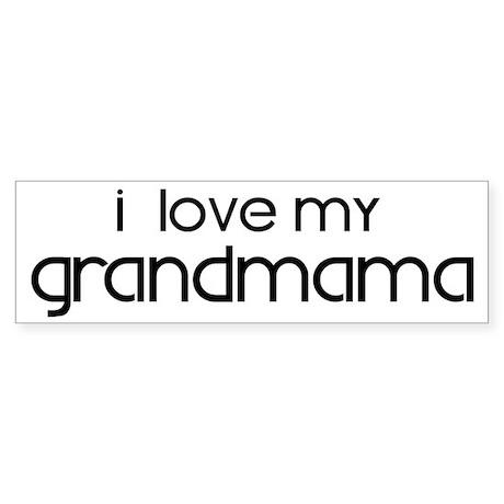 I Love My Grandmama Bumper Sticker (50 pk)