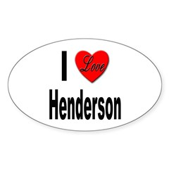 I Love Henderson Oval Decal