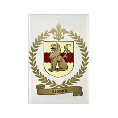 LEONARD Family Crest Rectangle Magnet