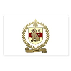 LEONARD Family Crest Rectangle Decal
