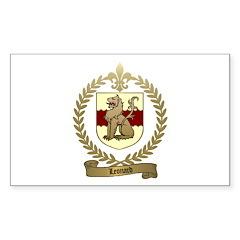 LEONARD Family Crest Rectangle Decal