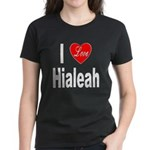 I Love Hialeah Florida (Front) Women's Dark T-Shir