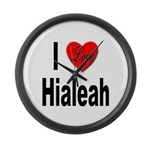 I Love Hialeah Florida Large Wall Clock
