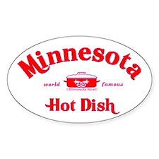 Minnesota Hot Dish Oval Sticker (10 pk)
