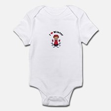 I Love Winter Skier Infant Bodysuit
