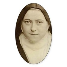 St Therese Holy Face Oval Decal
