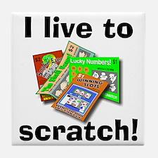 I Live to Scratch Tile Coaster