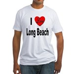I Love Long Beach (Front) Fitted T-Shirt