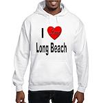 I Love Long Beach (Front) Hooded Sweatshirt