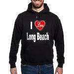 I Love Long Beach (Front) Hoodie (dark)