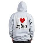 I Love Long Beach (Back) Zip Hoodie