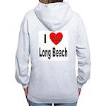 I Love Long Beach (Back) Women's Zip Hoodie