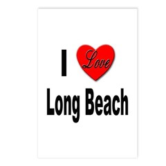 I Love Long Beach Postcards (Package of 8)