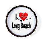 I Love Long Beach Wall Clock