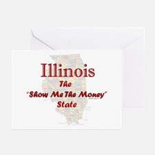 Illinois Show Me The Money Greeting Cards (10 Pk)