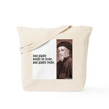 """Chaucer """"Gladly Lerne"""" Tote Bag"""
