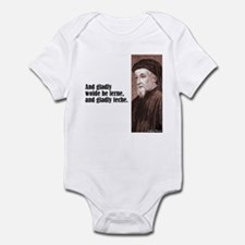 "Chaucer ""Gladly Lerne"" Infant Bodysuit"