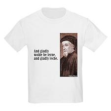 "Chaucer ""Gladly Lerne"" T-Shirt"