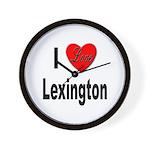 I Love Lexington Wall Clock