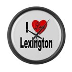 I Love Lexington Large Wall Clock
