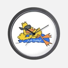 Ducky on a Raft Wall Clock