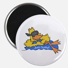 Ducky on a Raft Magnet