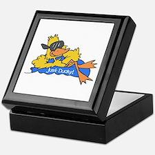 Ducky on a Raft Keepsake Box