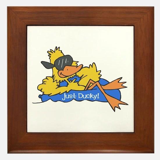 Ducky on a Raft Framed Tile