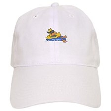 Ducky on a Raft Baseball Baseball Cap