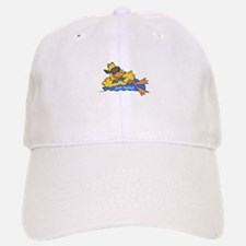 Ducky on a Raft Baseball Baseball Cap