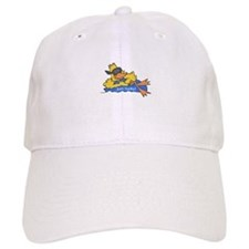 Ducky on a Raft Baseball Cap