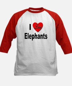 I Love Elephants (Front) Tee