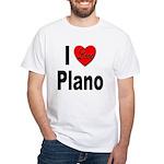 I Love Plano Texas White T-Shirt