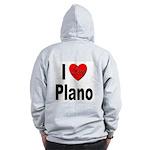 I Love Plano Texas (Back) Zip Hoodie