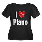 I Love Plano Texas (Front) Women's Plus Size Scoop