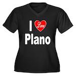 I Love Plano Texas (Front) Women's Plus Size V-Nec