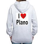 I Love Plano Texas (Back) Women's Zip Hoodie