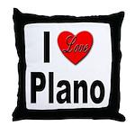 I Love Plano Texas Throw Pillow