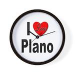 I Love Plano Texas Wall Clock