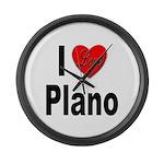 I Love Plano Texas Large Wall Clock