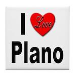 I Love Plano Texas Tile Coaster