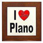 I Love Plano Texas Framed Tile