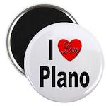 I Love Plano Texas Magnet
