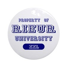 Property of Rieur University Ornament (Round)